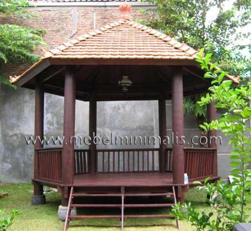 Jual Gazebo Minimalis Kayu Kelapa MM 369
