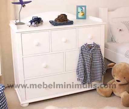 Baby Table Minimalis Duco Putih MM 119