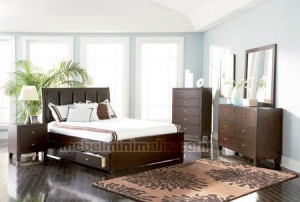 Perusahaan Furniture Tempat Tidur Kayu Jati Set MM 099