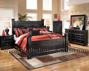 Set Tempat Tidur Jati Minimalis MM 313