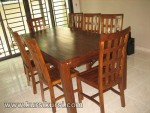 Furniture Jati Minimalis Set Kursi Makan dan Meja Minimalis Jati KKS 115