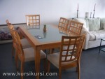 Furniture Jati Set Kursi Meja Makan Minimalis Kotak KKS 116