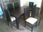 Furniture Kayu Jepara Set Kursi Meja Makan Minimalis Blok Sandaran KKS 119