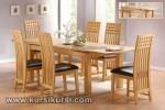 Furniture Kayu Set Kursi Meja Makan 6 Kursi Jok Asli KKS 121