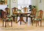 Furniture Kayu Ukir Set Kursi Meja Makan KKS 122