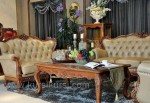 Furniture Mewah Set Sofa Finishing Emas