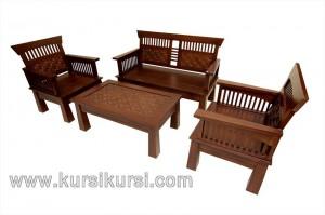 Furniture Surabaya Set Kursi Tamu Minimalis Kawung Natural