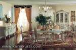 Italian Furniture Set Kursi Meja Makan Duco Putih KKS 138