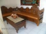 Kursi Tamu Set Sudut Ukir Mahkota Natural Furnishing