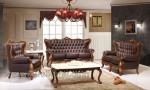 Leather Sofa Set Kursi dan Meja Tamu Ukir Jepara