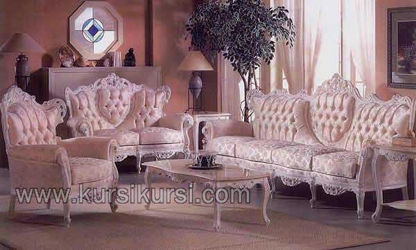Mebel Asli Jepara Sofa Medan Duco Putih