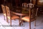 Mebel Jati Ukiran Set Kursi Meja Makan Jepara KKS 183