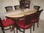 Mebel Kayu Set Kursi Makan Banteng Kayu Jati Jepara Furniture KKS 195