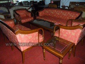 Melamin Furniture Set Kursi Tamu Sofa Seraton Jati