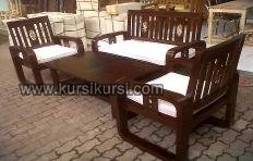 Minimalis Furniture Set Kursi Tamu Kayu Jati