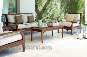 Modern Minimalis Sofa Set Kursi Tamu Kayu Jati