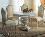 Round Table Set Kursi Meja Makan Duco Jepara KKS 243