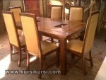 Set Kursi Makan Busa 6 Kursi Furniture Kayu KKS 252