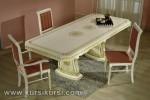 Set Kursi Makan Duco Putih Jok Merah Jepara KKS 257