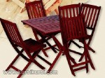 Set Kursi Makan Lempit Finishing Maroon KKS 279