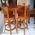 Set Kursi Makan Model Kursi Bar Kayu Jati KKS 316