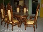Set Kursi Makan Raja Ukiran Jepara KKS 349