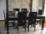 Set Kursi Meja Makan Blok Kotak Samping KKS 382