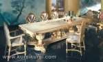Set Kursi Meja Makan Mewah Duco Putih KKS 398