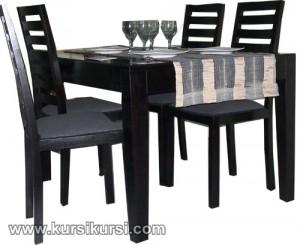 Set Kursi Meja Makan Minimalis 4 Kursi Black Doff KKS 399
