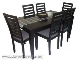 Set Kursi Meja Makan Minimalis 6 Kursi Black Doff KKS 400