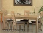 Set Kursi Meja Makan Minimalis Blok Motif KKS 407