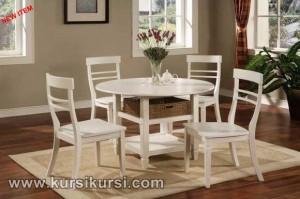 Set Kursi Meja Makan Minimalis Duco Putih KKS 409