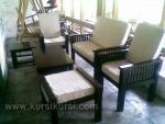 Set Kursi Tamu Minimalis Black Busa Putih