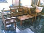 Set Kursi Tamu Minimalis Kawung Kayu Jati