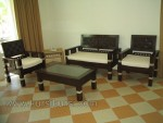 Set Kursi Tamu Minimalis Modern Black Finish