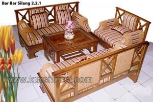 Set Kursi Tamu Minimalis Silang Furniture Jati