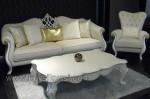 Set Kursi Tamu Sofa Mewah Duco Putih