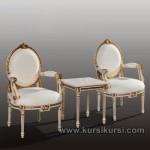 Set Kursi Teras Duco Putih Klasik