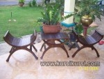 Set Kursi Teras Yuyu Salak Brown