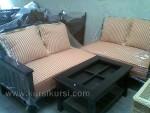 Sofa Kursi Tamu Sudut Kayu Jati
