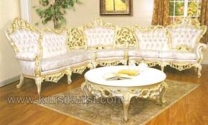 Sofa Lengkung Sudut Ukir Khas Jepara