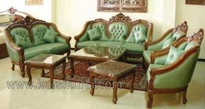 Sofa Set Ganesa Jati Jok Hijau