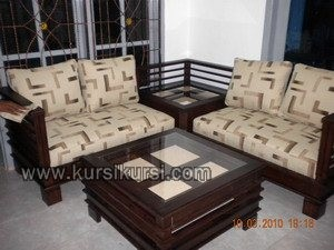 Sofa Sudut Jati Jepara Minimalis