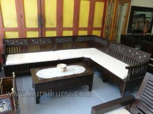 Sofa Sudut Jati Set Kursi Tamu Minimalis