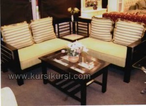Sofa Sudut Kayu Jati Set Furniture
