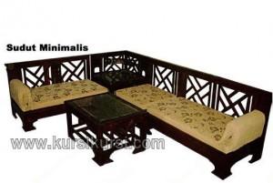 Sofa Sudut Set Kursi Tamu Minimalis Jati