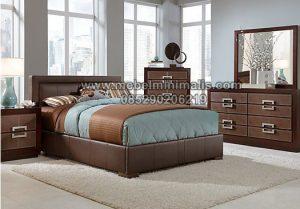 Tempat Tidur Minimalis Bahan Kayu MJ-TTM 145