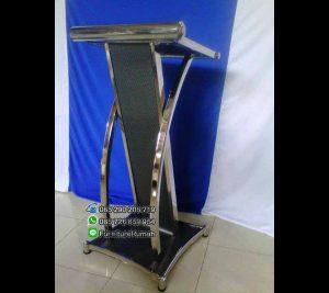 Desain Podium Mimbar Minimalis Stainless FK-PM 104