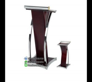 Furniture Kayu Solid Podium Mimbar Minimalis Stainless FK-PM 105