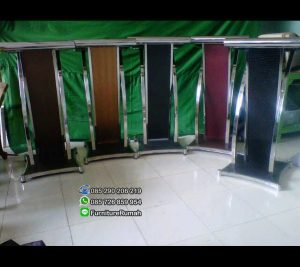 Pilihan Wanra Stock Podium Mimbar Minimalis Kombinasi Stainless FK-PM 117